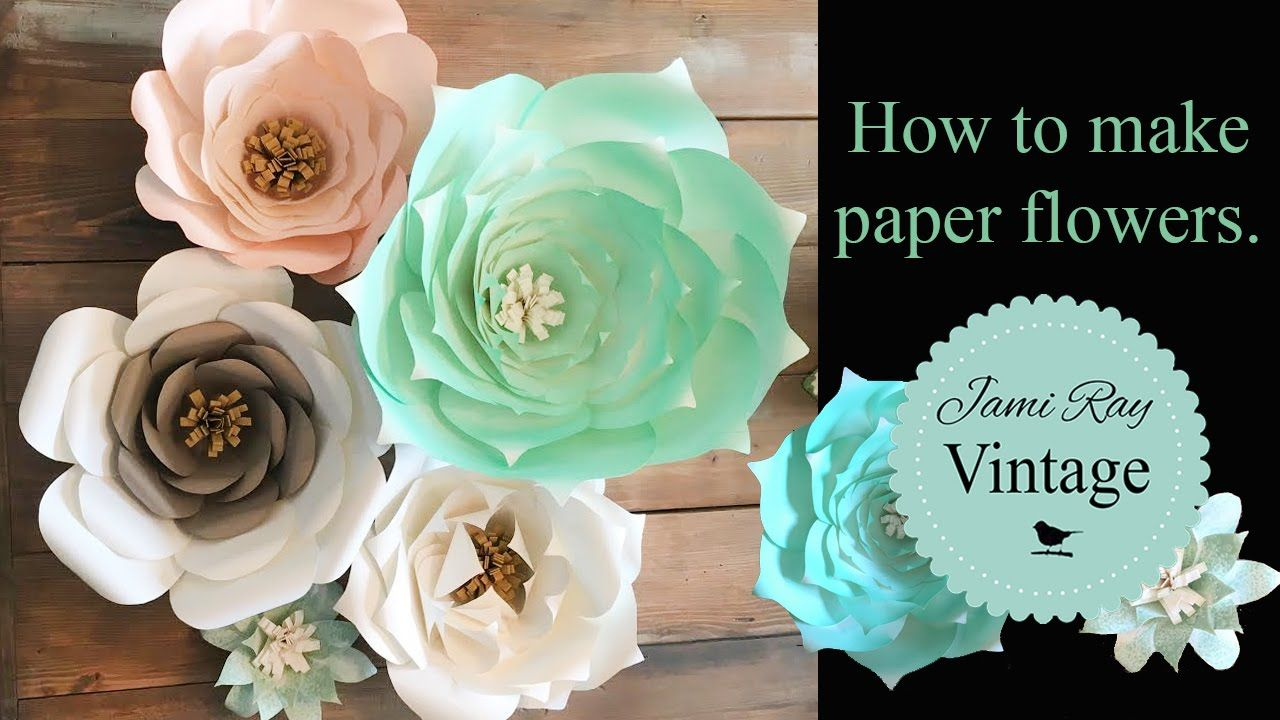 How To Make Paper Flowers Youtube Flores De Papel Pinterest