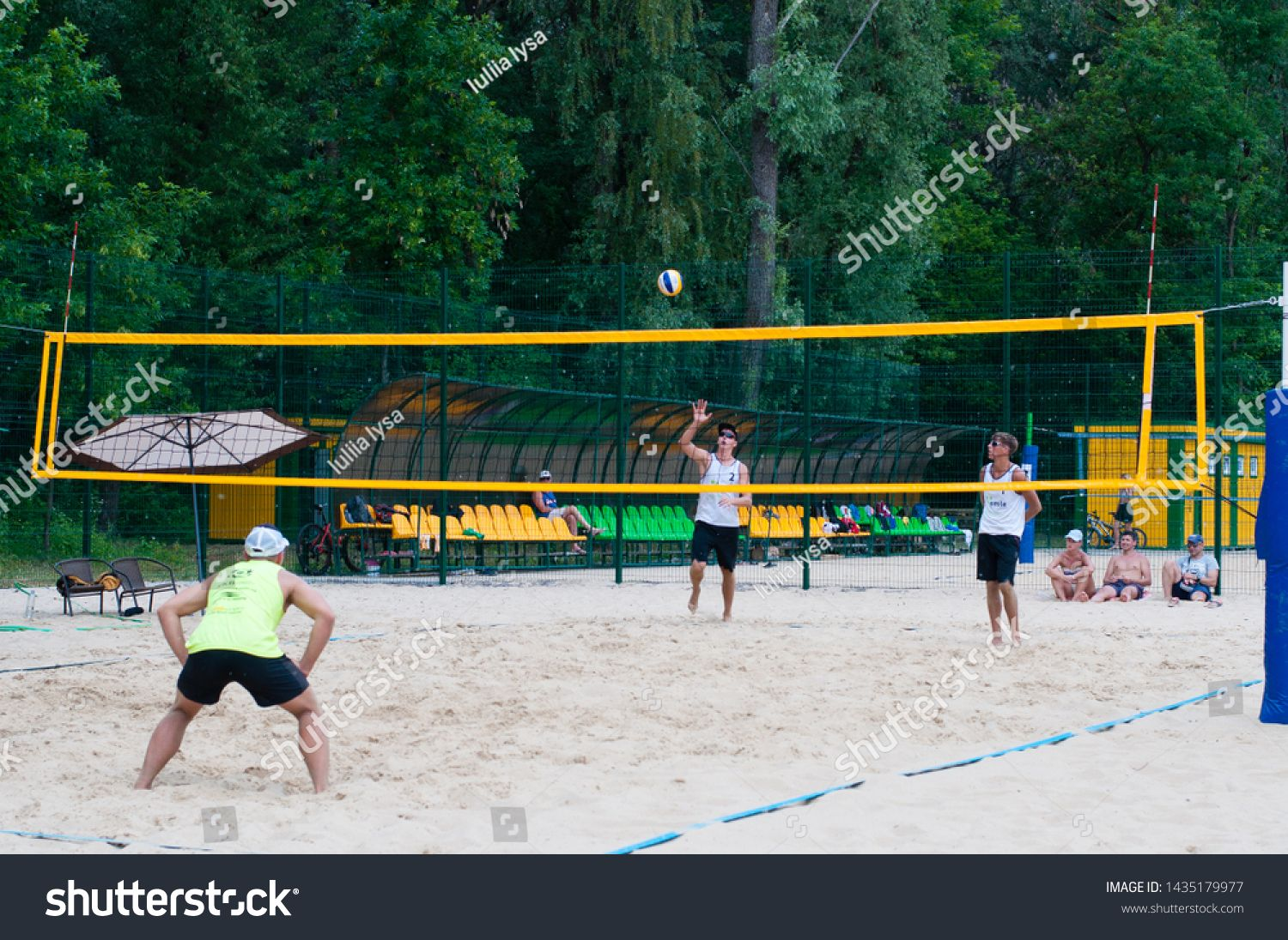 Ukraine Chernigov June 9 2019 Beach Volleyball Championship Of The City Beautiful Young Sports Strong Men Play Volleyball O In 2020 Beach Photo Editing City Beach