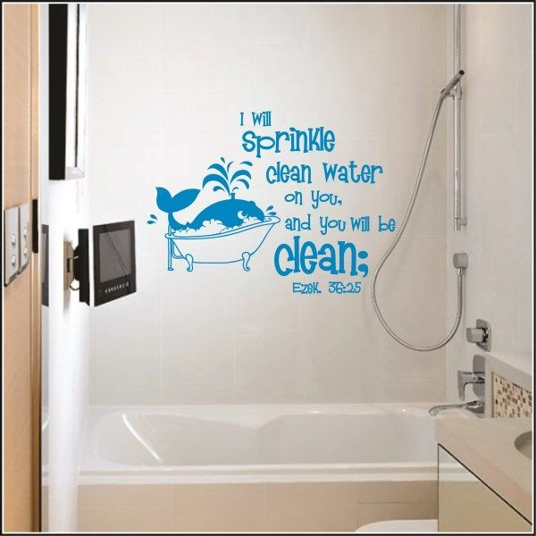 Attractive Ezekiel 36:25 For Kidu0027s Bathroom | Old Testament Books Of Bible Christian Wall  Decals Part 7