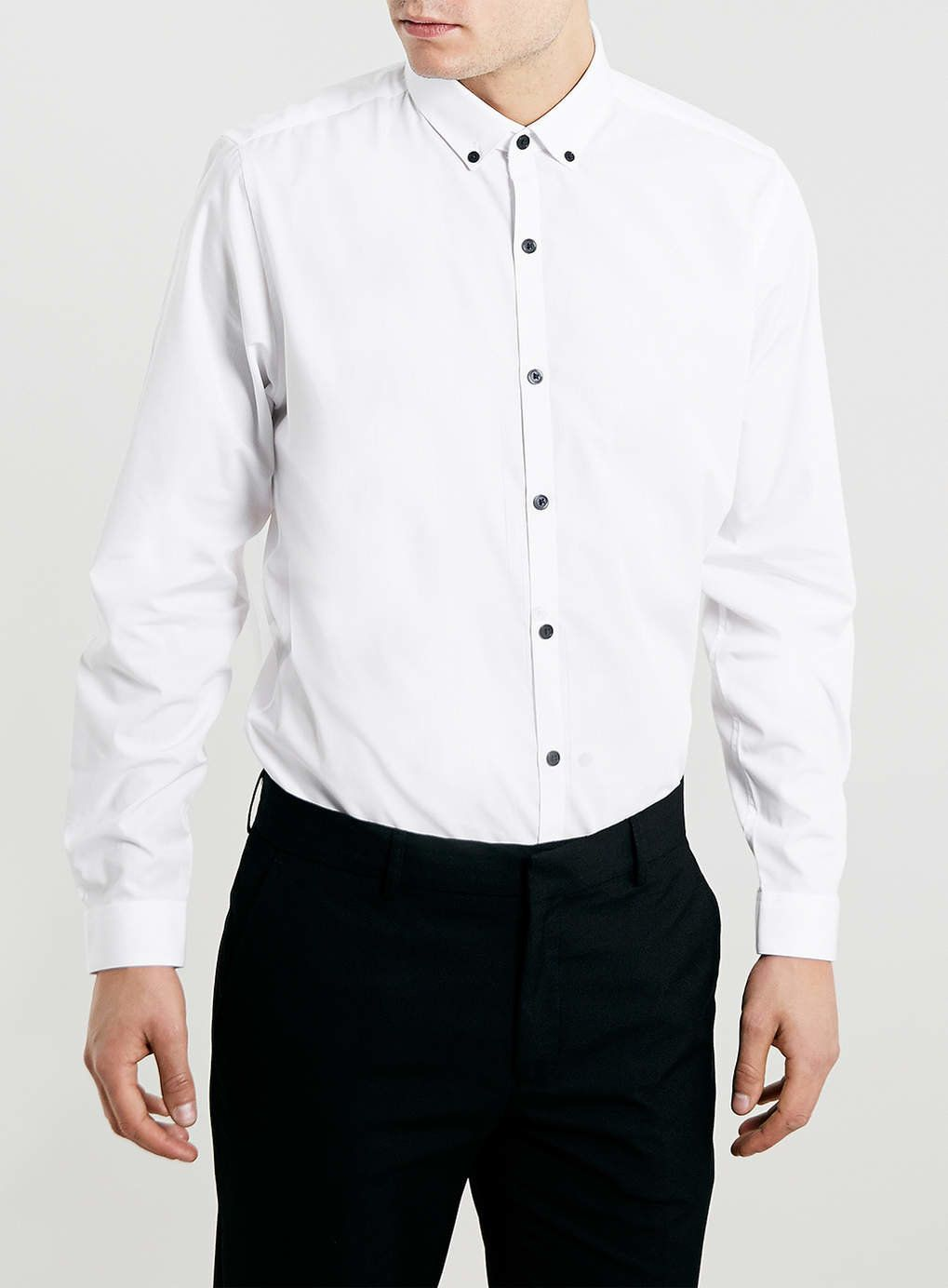 Photo 1 of WHITE BUTTON DOWN LONG SLEEVE SMART SHIRT | pur(chase ...