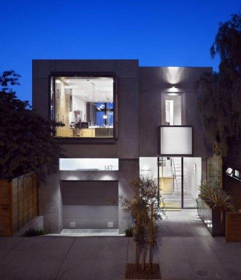 Fachada de casa moderna fachada casa pinterest icon for Arquitectura moderna casas pequenas