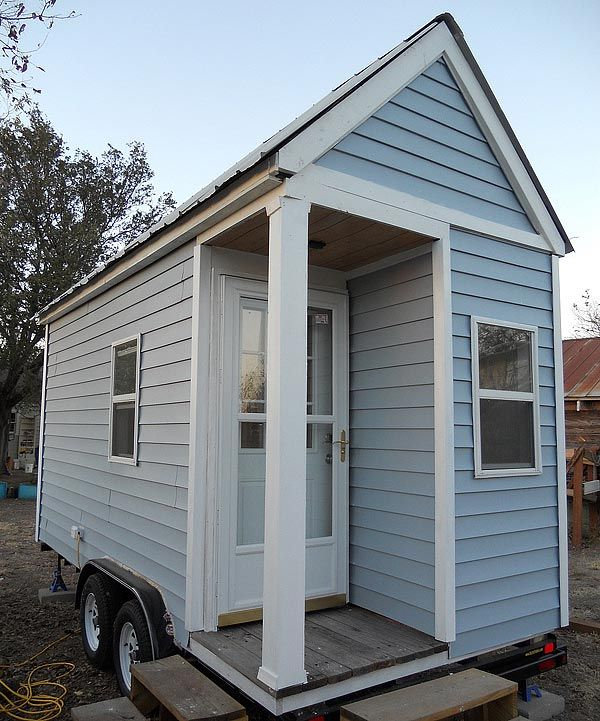 petite maison tiny house construite sur une remorque de 16 pieds petites maisons tiny. Black Bedroom Furniture Sets. Home Design Ideas
