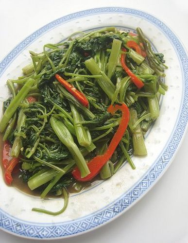 Great hong kong style stir fried kangkong with shrimp paste water food great hong kong style forumfinder Images