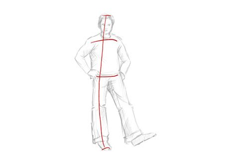 How To Draw A Person Standing Drawings Draw Person