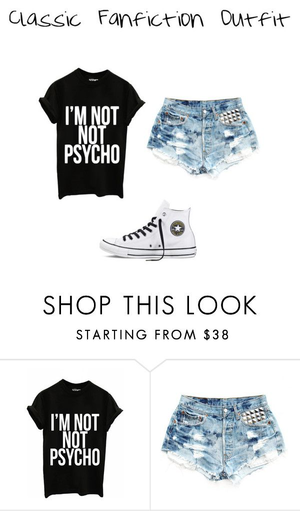 """Classic Fanfiction Outfit"" by strangemusiclover ❤ liked on Polyvore featuring Levi's and Converse"