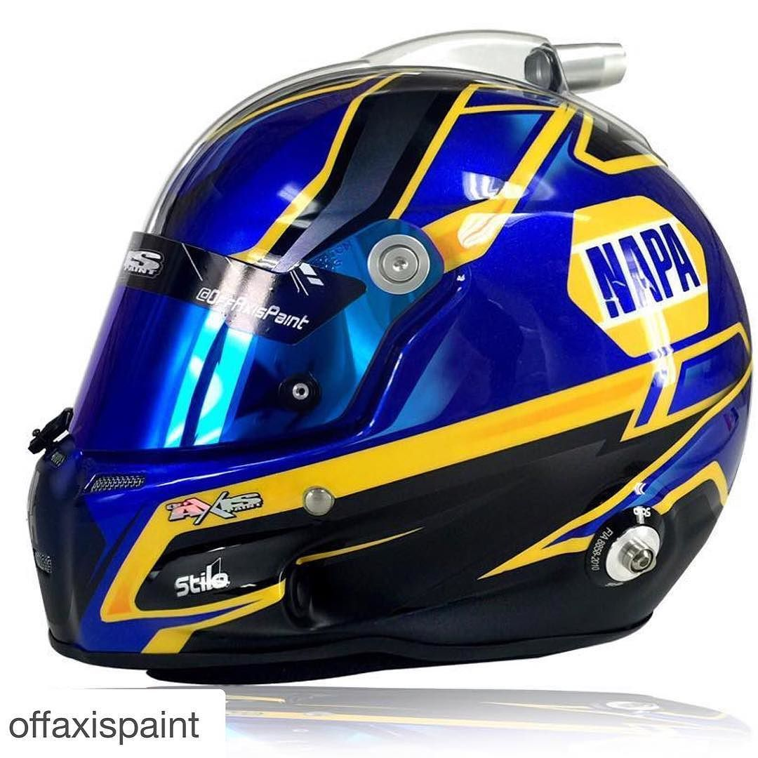 #Repost @offaxispaint  @toddgilliland_ new look for 2016  @bmr_nascar #TeamOffAxis @napaknowhow #stilohelmets #ST5 #stilohelmet #hmsmotorsport @hmsmotorsports by stilohelmets