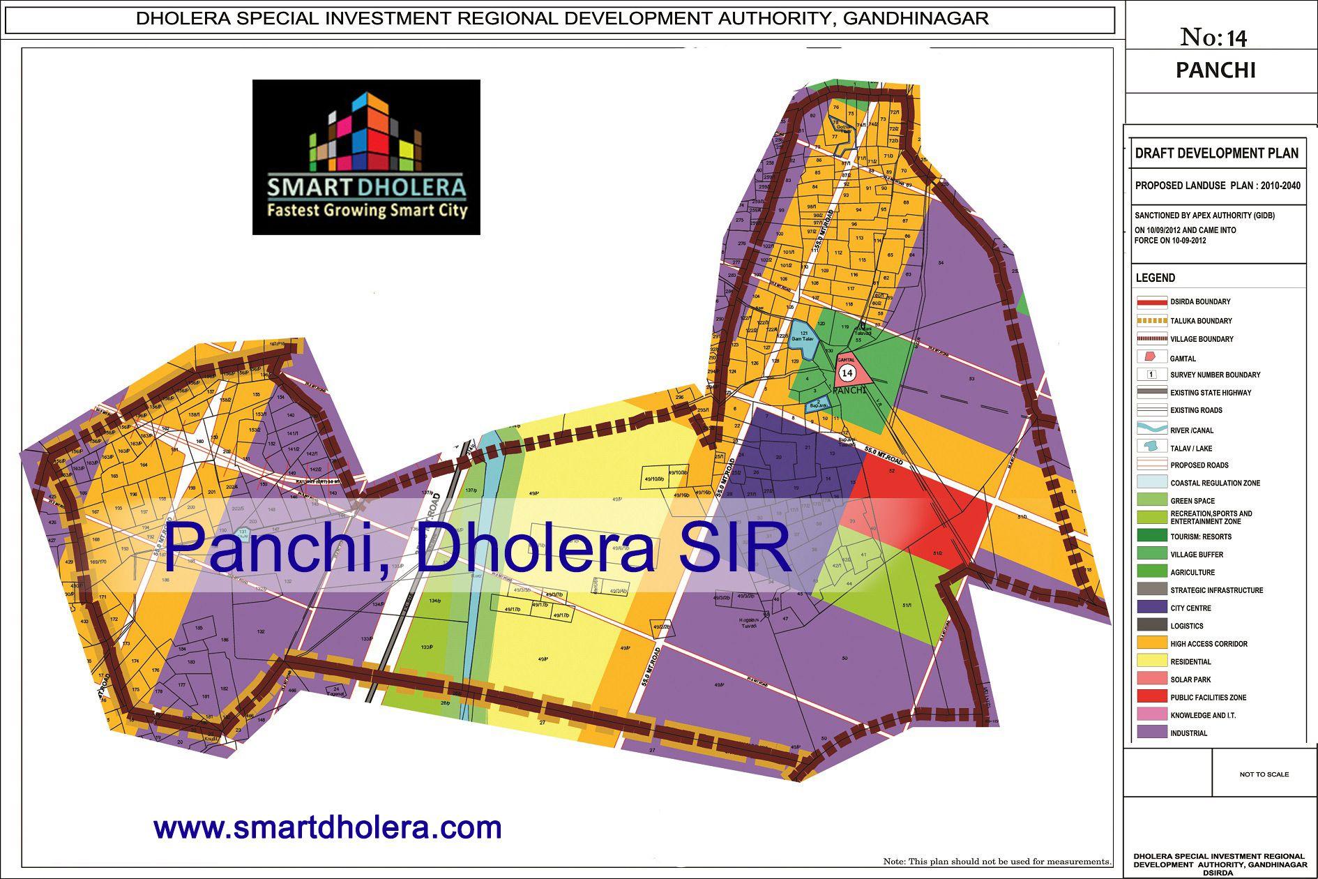 Map of PANCHI, Dholera SIR.