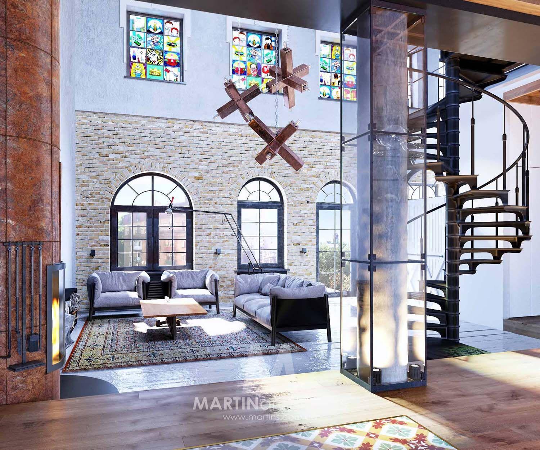 industrial style loft in kiev showcases impressive design - Interieur Mit Rustikalen Akzenten Loft Design Bilder