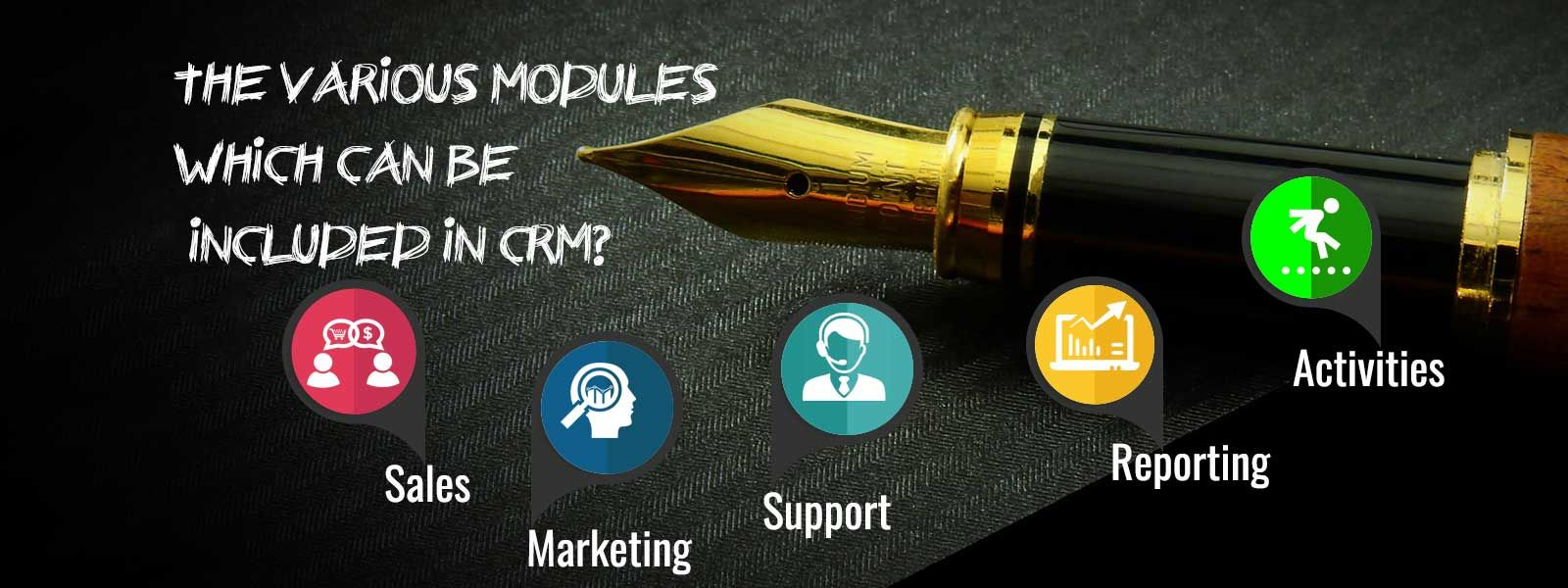 What are the various modules which can be included in CRM