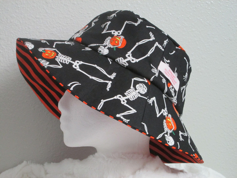 Bucket Hat 25 Xxlarge Halloween Hat Dancing Skeleton Etsy Halloween Hats Bucket Hat Mens Bucket Hats