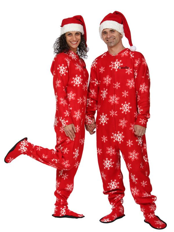 Winter Snowflake Adult Footed Pajama | Snow wear | Pinterest ...