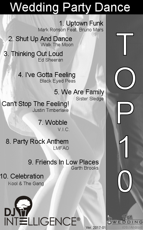 Top 10 Wedding Party Dances Dj Playlists Pinterest Dancing