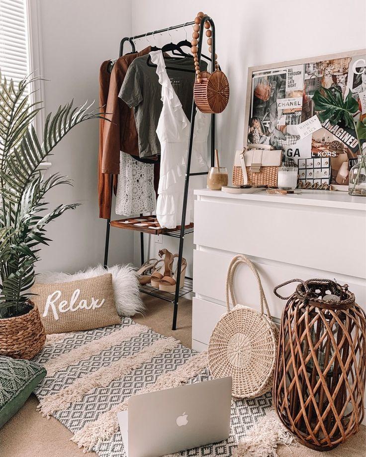 Urban Boho inspiriert Schlafzimmer Dekor #bohowohnen
