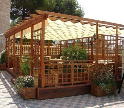 PERGOLA-MADERA-028 | Keroa | Pinterest | Pergola madera, Madera y ...