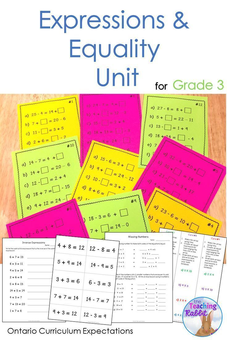 This Expressions \u0026 Equality Unit for third grade contains lesson ideas [ 1104 x 736 Pixel ]