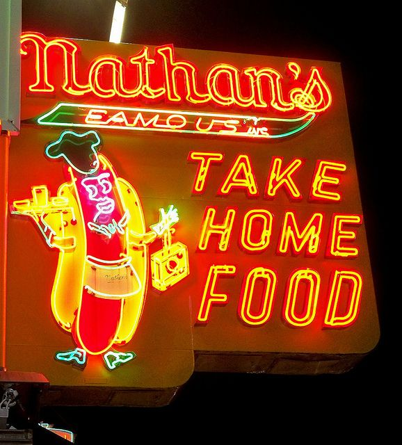 Nathan's Hot Dogs, Coney Island, New York