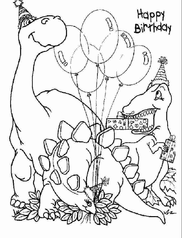 Coloring Book Printable Dinosaur Birthday Party Coloring Pages