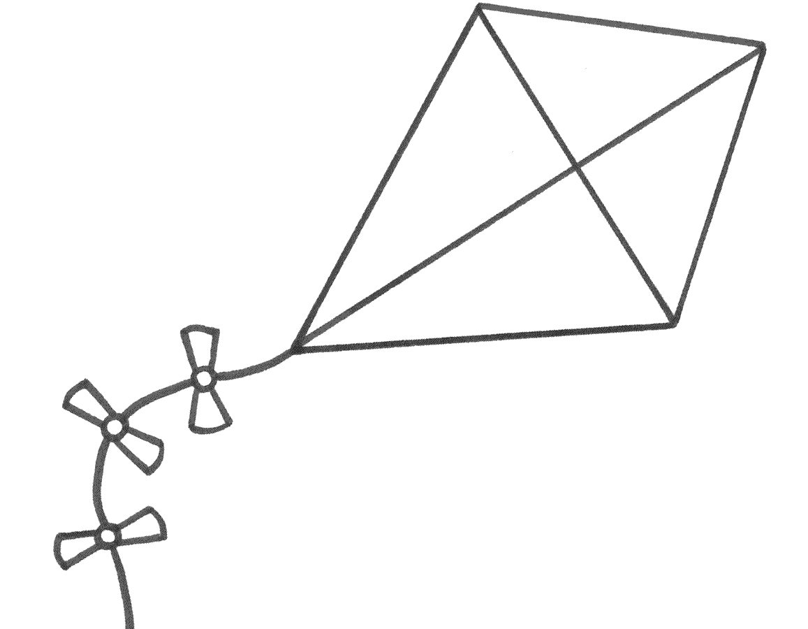 Handwriting Worksheet Kite Template Coloring Pages Coloring For Kids