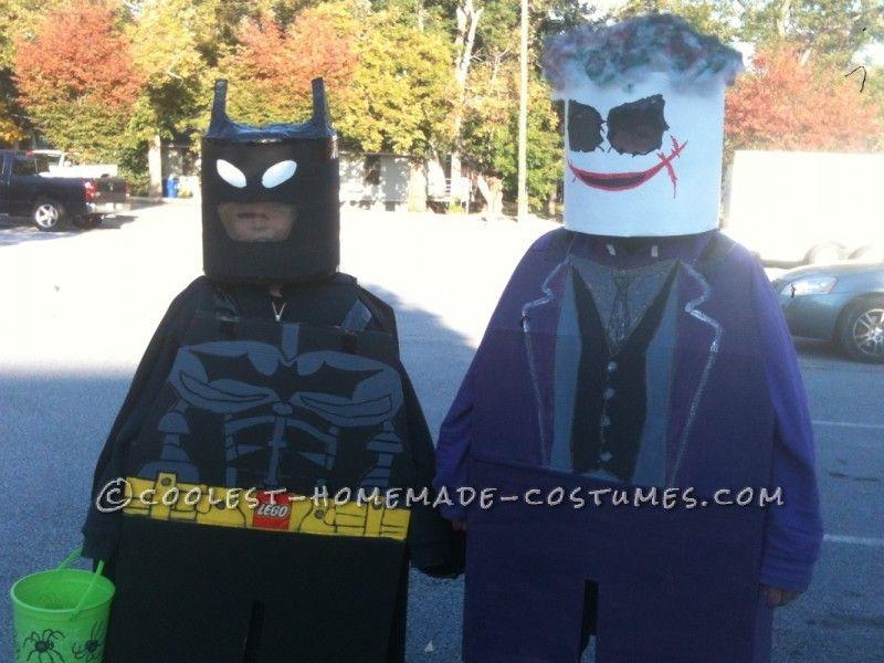 Coolest Batman and Joker Lego Minifig Halloween Costumes & Coolest Batman and Joker Lego Minifig Halloween Costumes | Pinterest ...