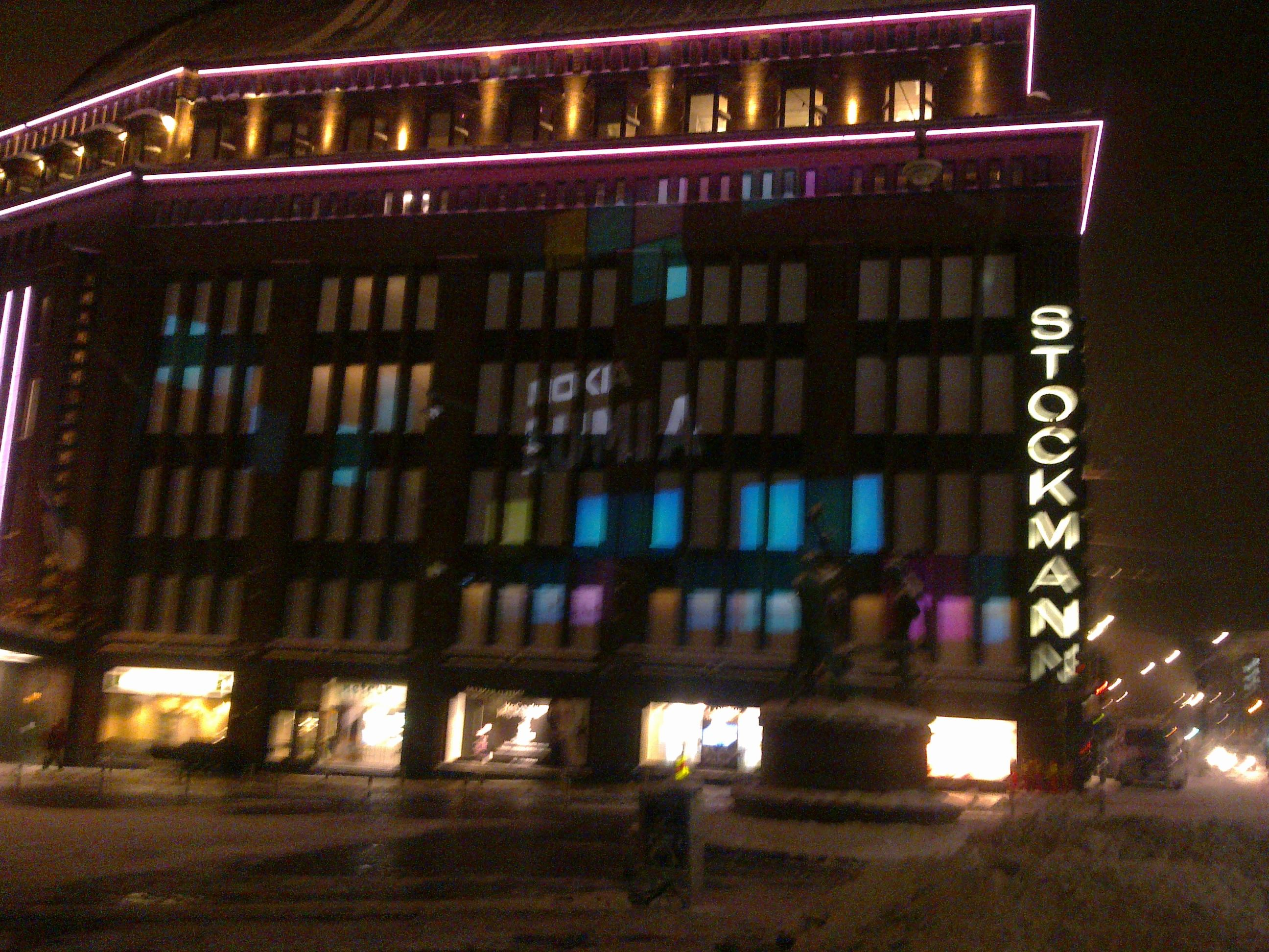 Stockmann Goes Lumia in Light