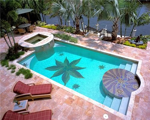 South florida tropical landscaping ideas reynolds for Pool designs florida