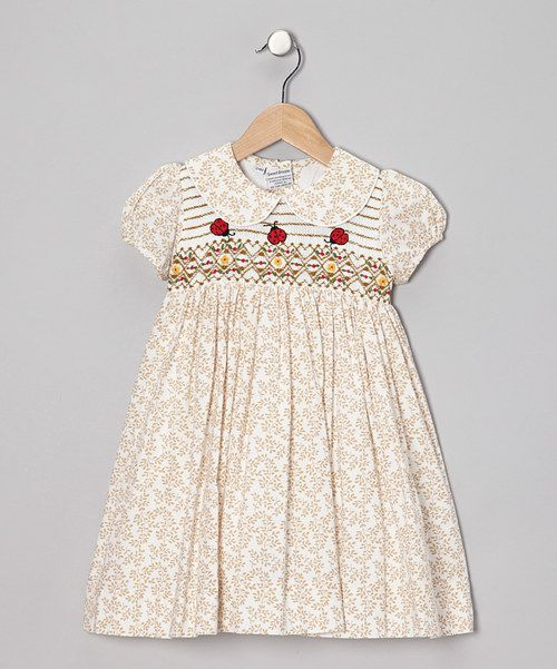 Take a look at this Sweet Dreams Brown Ladybug Dress - Infant, Toddler & Girls on zulily today!
