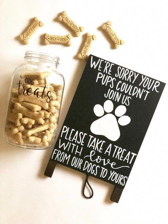 Dog Treat Easel - Wedding Sign - Event Sign - Chalkboard Easel - Pet Sign - Event Decor - Hand Written Chalkboard Sign