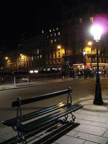 Park Bench In Paris At Night Benches Pinterest Paris At Night