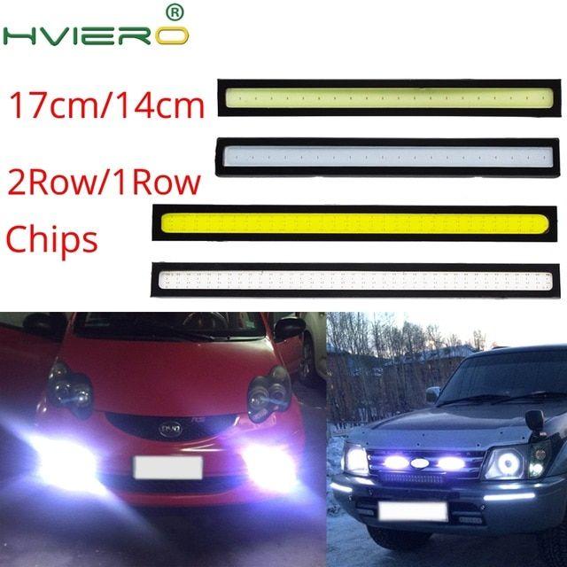 Waterproof 12V COB White Car LED Lights for DRL Fog Driving Lamp 17CM Daytime 1X