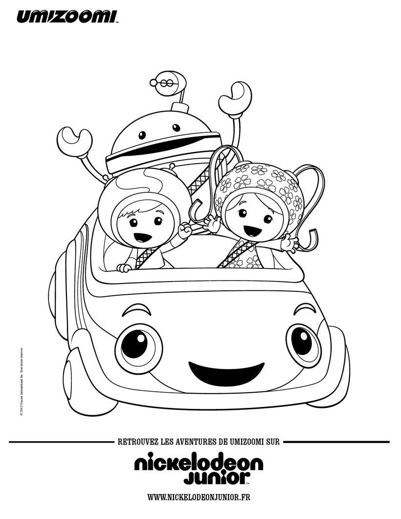 Coloriage : Les Umizoomi dans la Umi voiture | Drawing ...