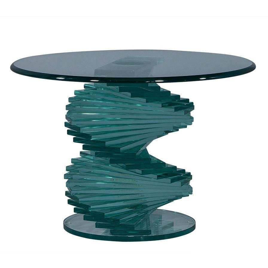 Stacked Glass Sculptural Side Table 1stdibs Com Side Table