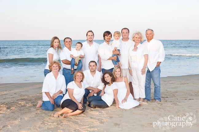 Beach poses for family sandbridge beach family portrait