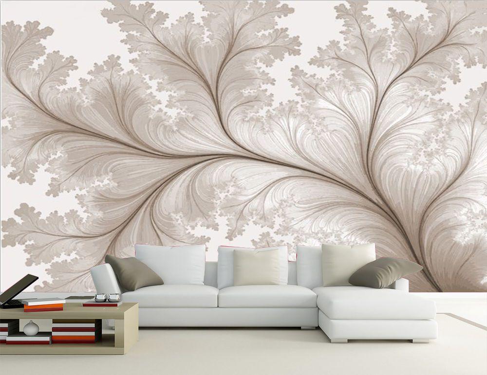2d Light Gray Pattern Mural Wall Deco Mural Wallpaper Wall Murals