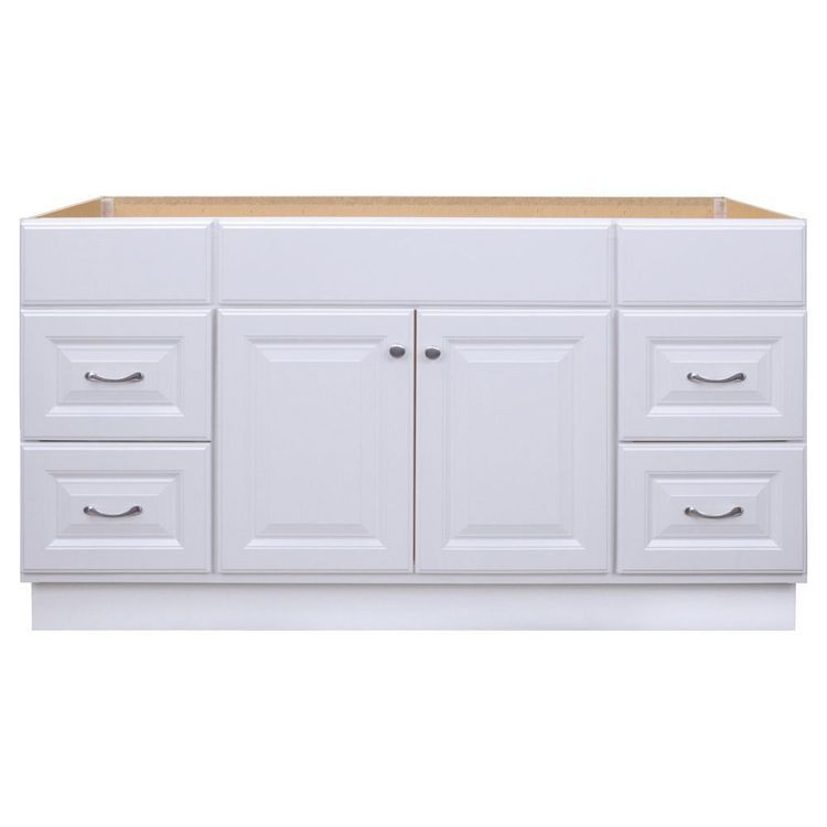 Best Project Source 60 In White Bathroom Vanity Cabinet At 400 x 300