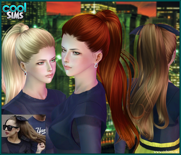 High ponytail Sims 3 Custom Content by CoolSims | the Sims 3