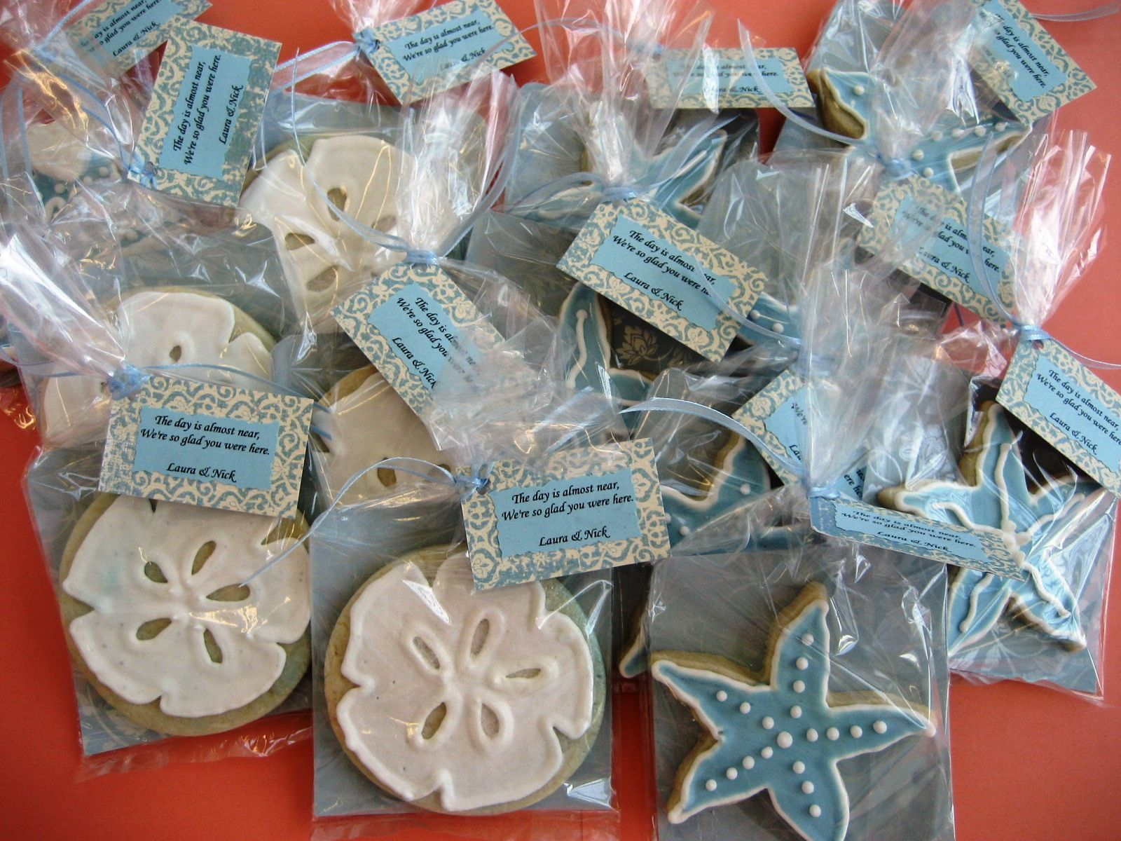 La Patisserie Rose Beach Bridal Shower Cookie Favors