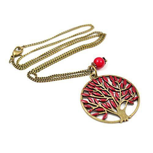"""Vintage Kette """"Lebensbaum"""" von SCHMUCKZUCKER mit kleiner Perle in bronze, rot Götterbaum inspiriert von Game of Thrones SCHMUCKZUCKER http://www.amazon.de/dp/B00LY4HOZU/ref=cm_sw_r_pi_dp_I8O1tb0R8YVGXQ18"""