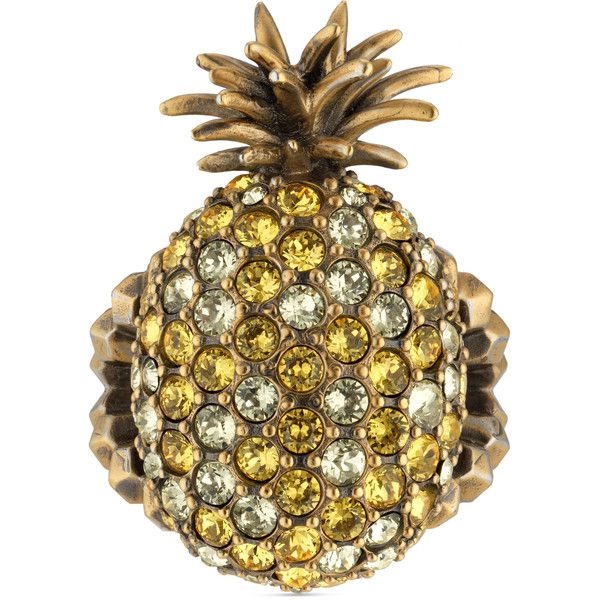 Gucci Pearl studded pineapple ring in metal 83CNMw