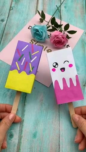 Creative Popsicle like paper craft