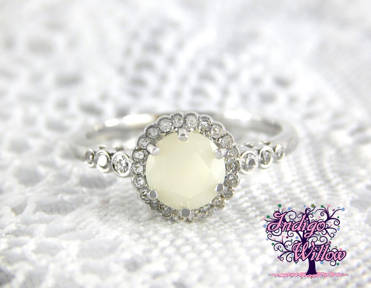 Inara Diamond 14kt Gold Or Platinum Breast Milk Ring Breast
