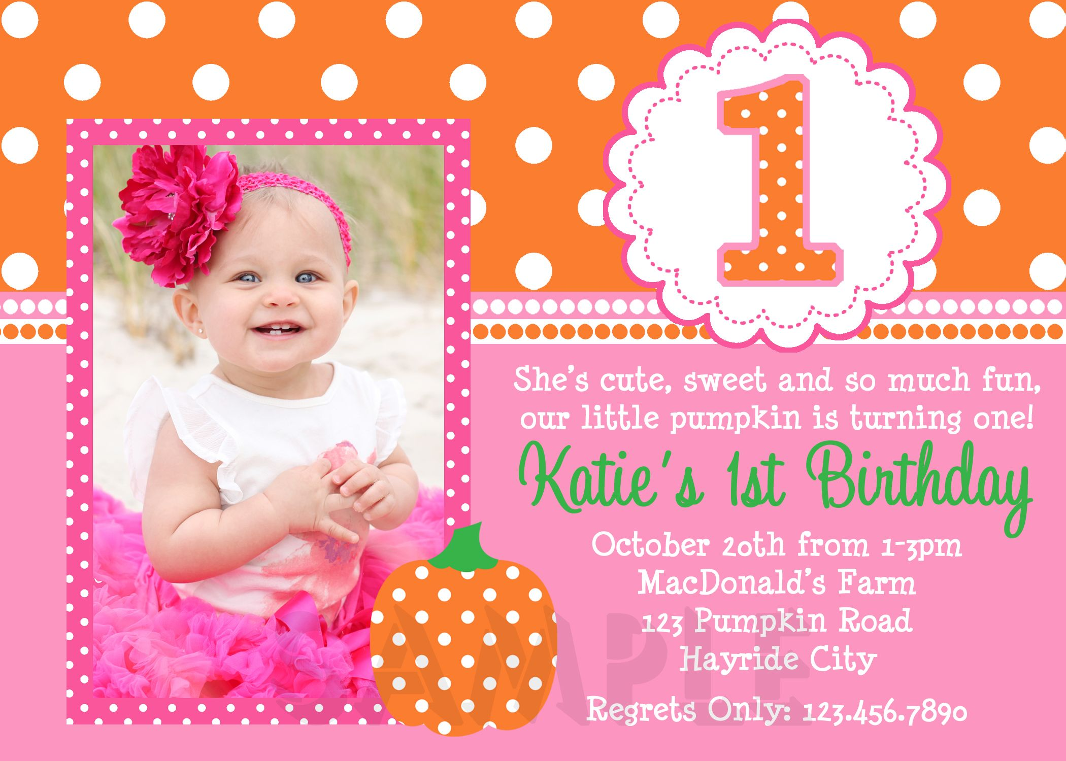 Download Now 1st Birthday Invitations for Girls | Free Printable ...