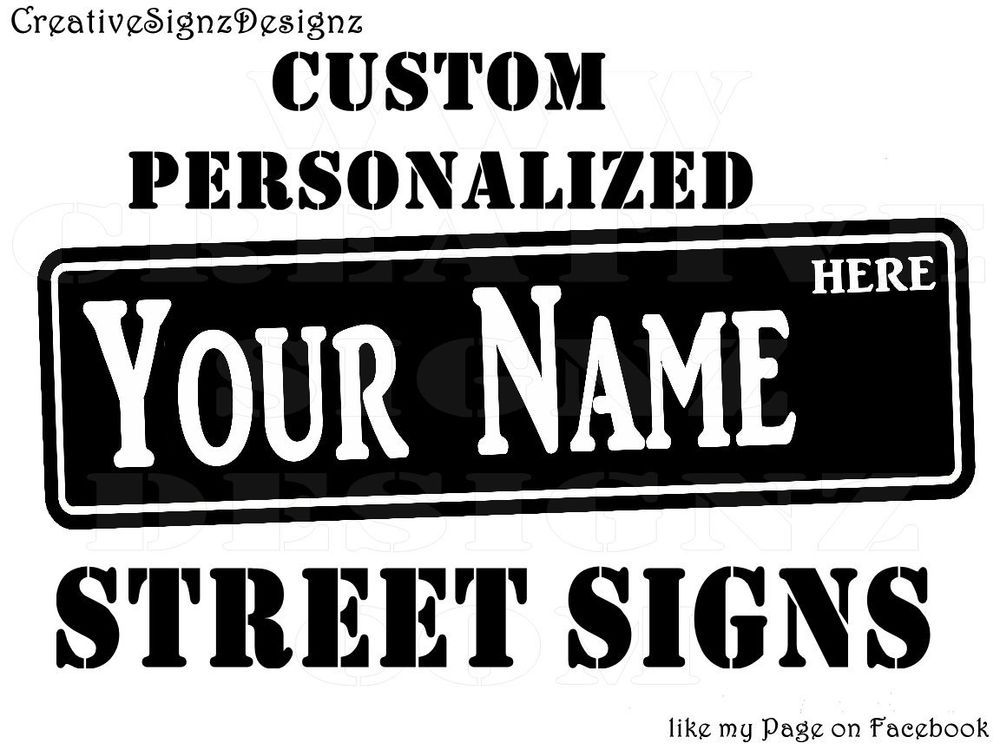 Details About STREET SIGN PERSONALIZED CUSTOM Tin Sign Your Name - Car signs and names