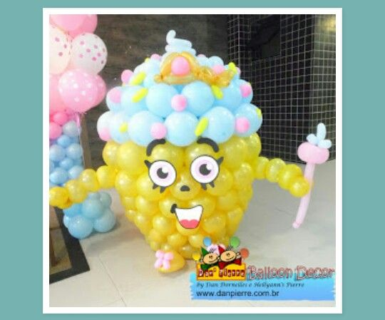 Shopkins Cupcake Balloons Decoration