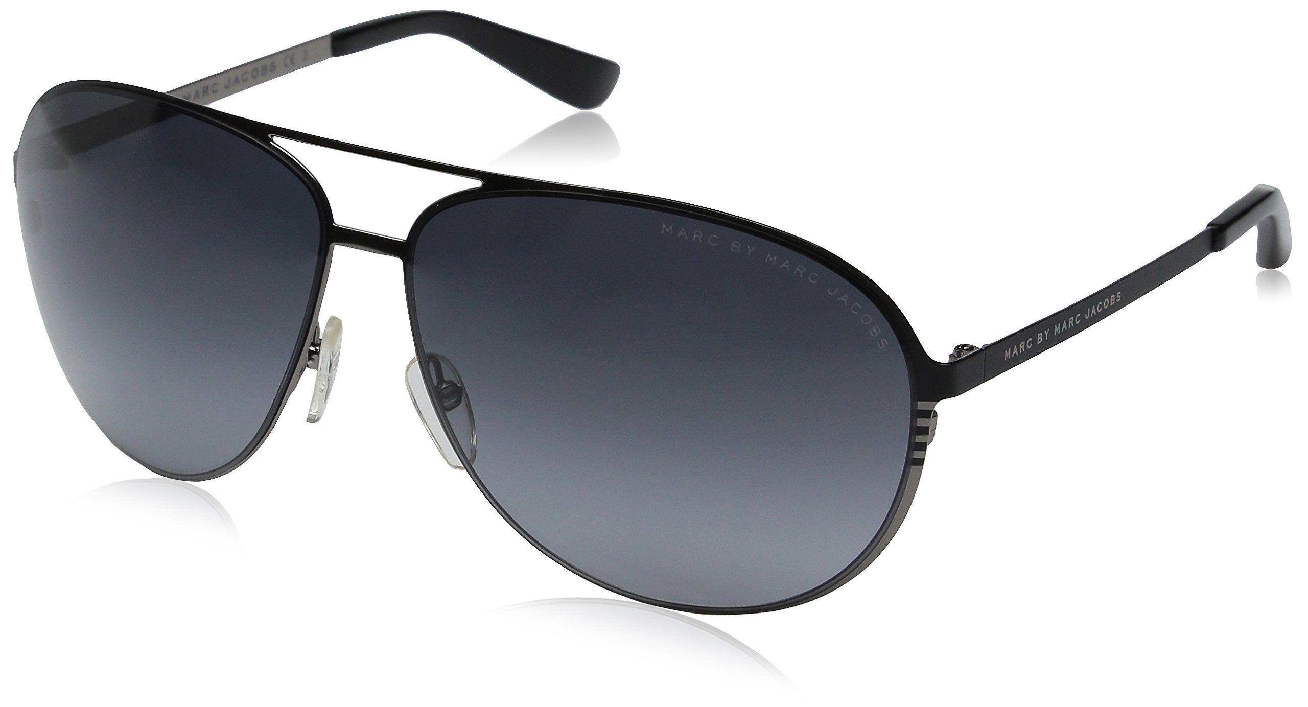 Marc by Marc Jacobs Women's MMJ393S Aviator Sunglasses, Dark Ruthenium, 62 mm. Case Included.