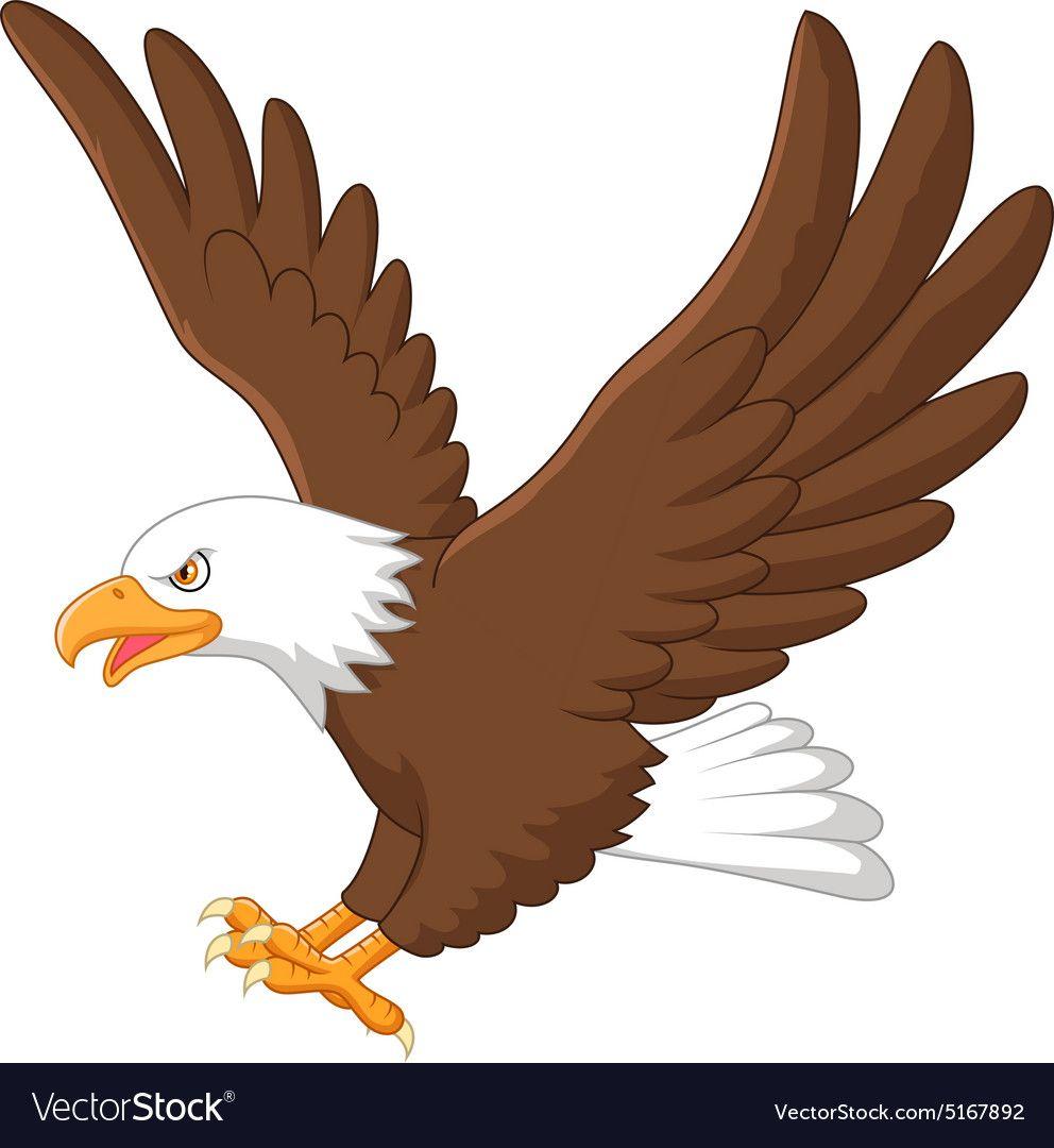 Eagle Cartoon Royalty Free Vector Image Vectorstock Ad Royalty Cartoon Eagle Free Ad Eagle Drawing Eagle Cartoon Eagle Art
