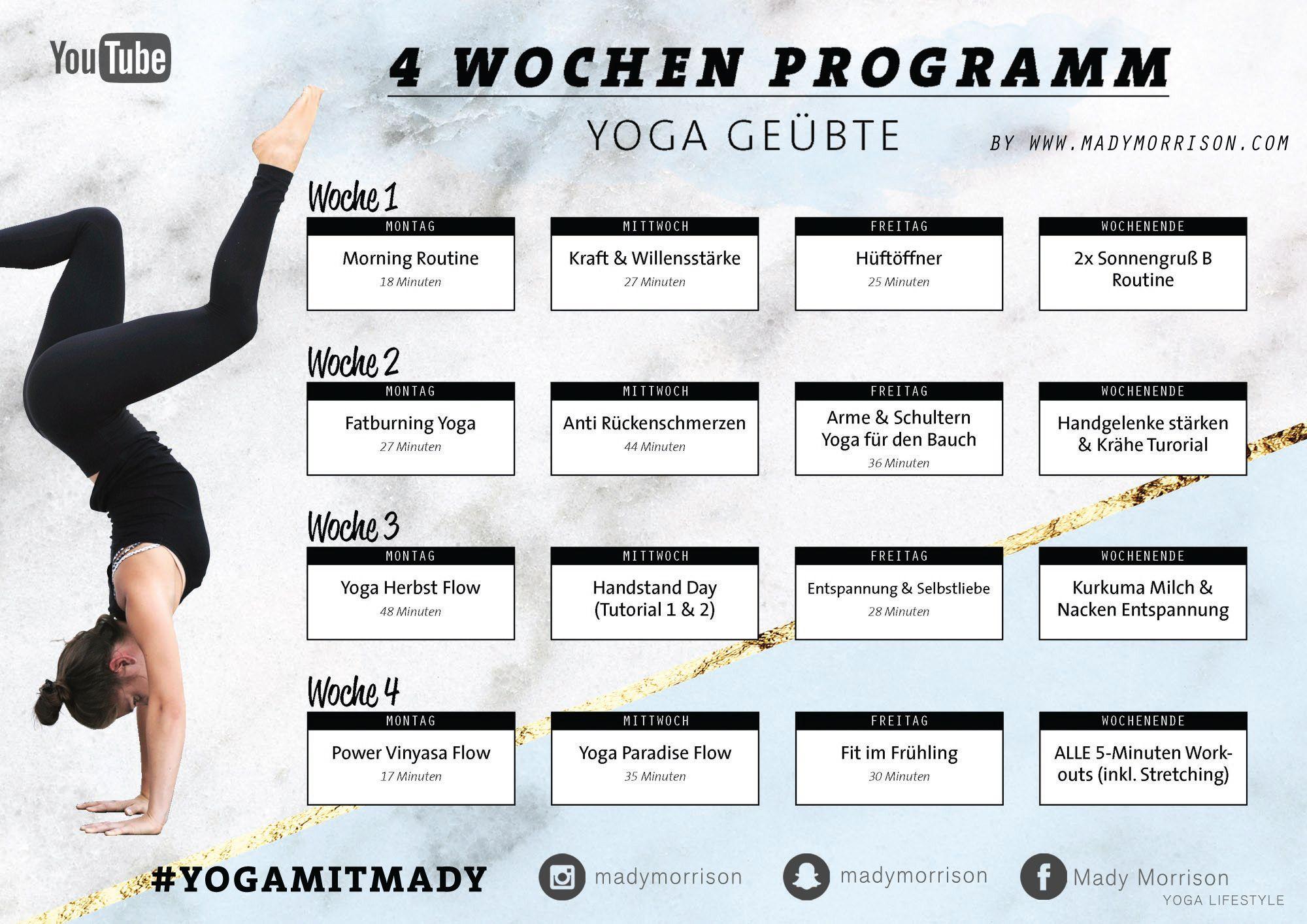 30 Tage Yoga Challenge mit Mady Morrison für Anfänger und