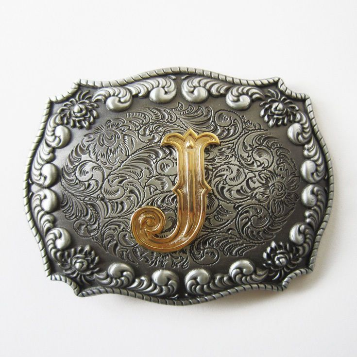 Mens Vintage Western Cowboy Texas Rodeo Initial Letters Belt Buckle Jewelry A-Z