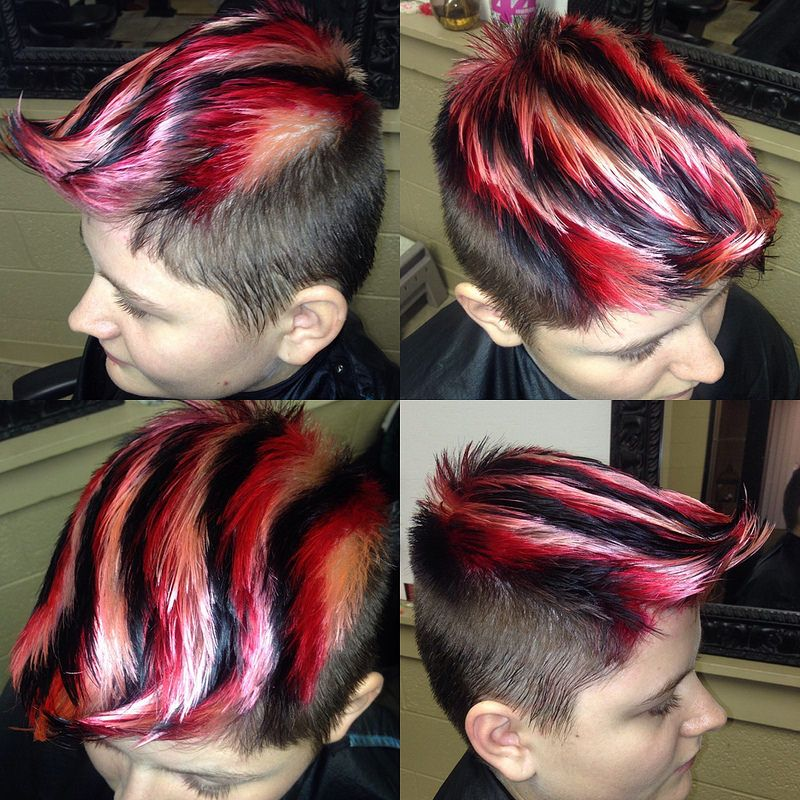 Haley S Squiggly Stripes Men Hair Color Boys Colored Hair Hair Stripes