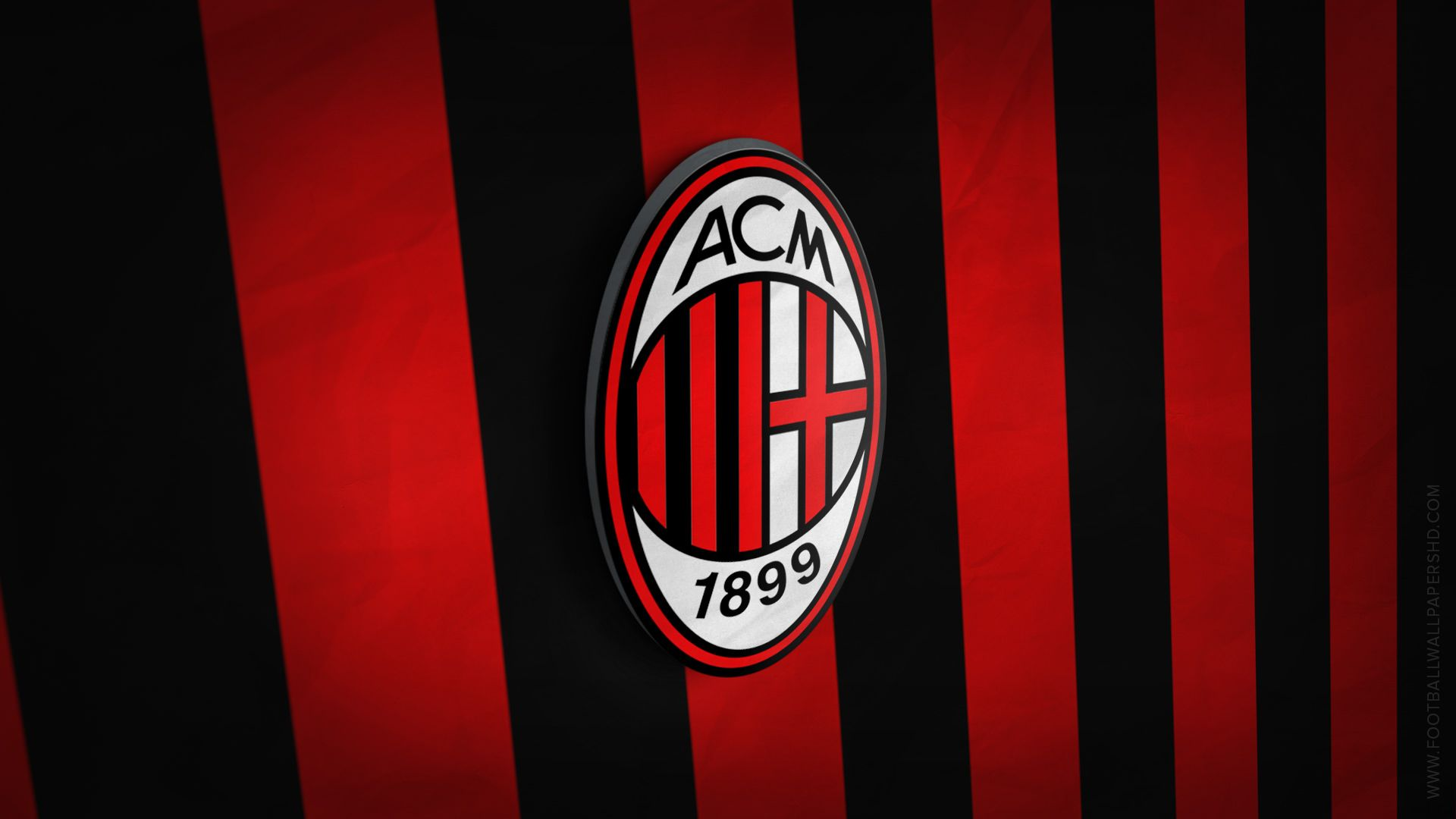 AC Milan 3D Logo Wallpaper
