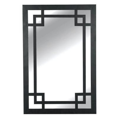 Home Decorators Collection Jacob 42 in. H x 28 in. W Metal Framed Mirror-60097 - The Home Depot